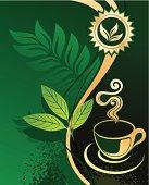 Background for design - green tea