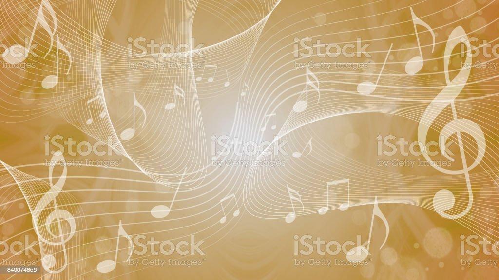 background image of music (16:9 ratio) vector art illustration