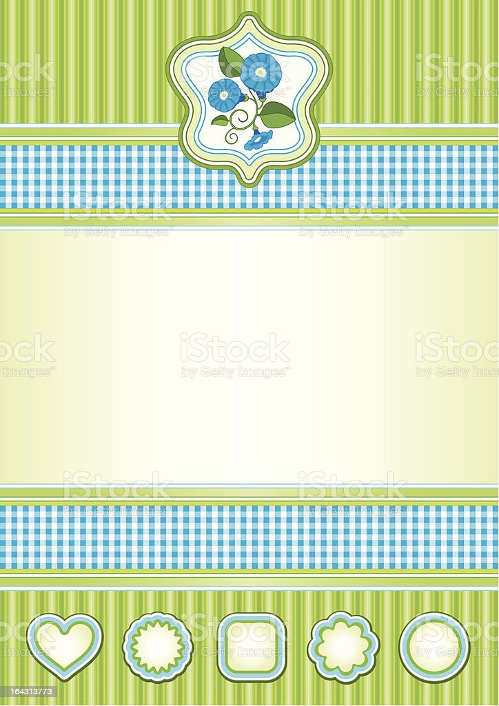 Background in blue and green royalty-free stock vector art