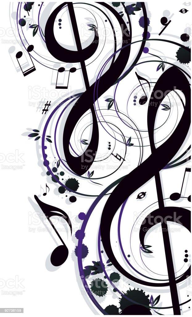 Background Music vector art illustration
