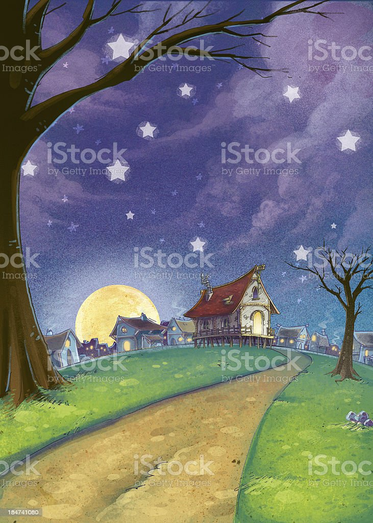 Background night scenery royalty-free background night scenery stock vector art & more images of architecture