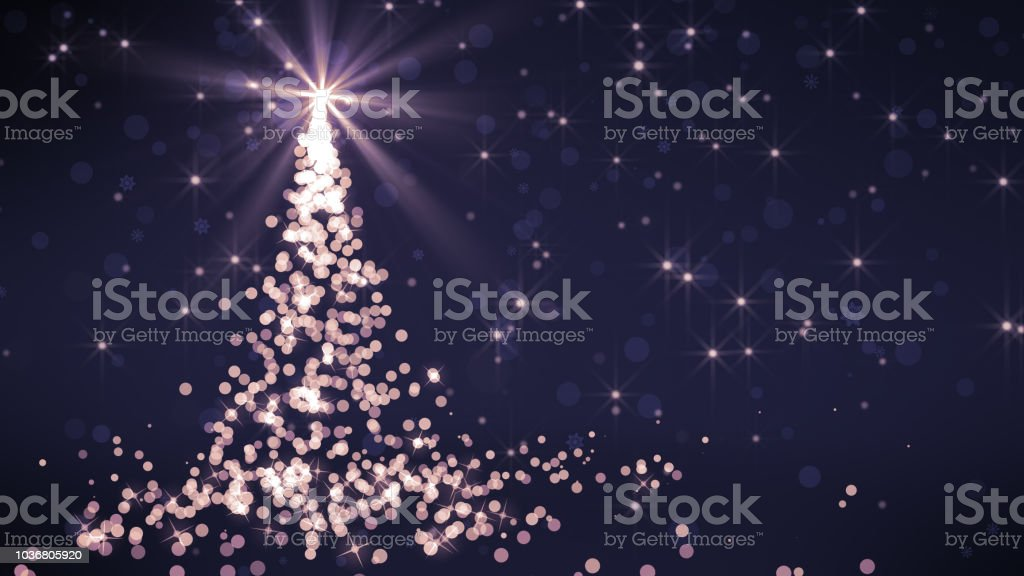 Background Of Christmas Snowflakes And Christmas Tree Which