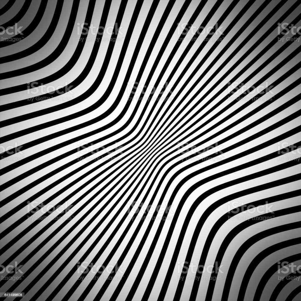 background of diagonal lines, optical illusion vector art illustration