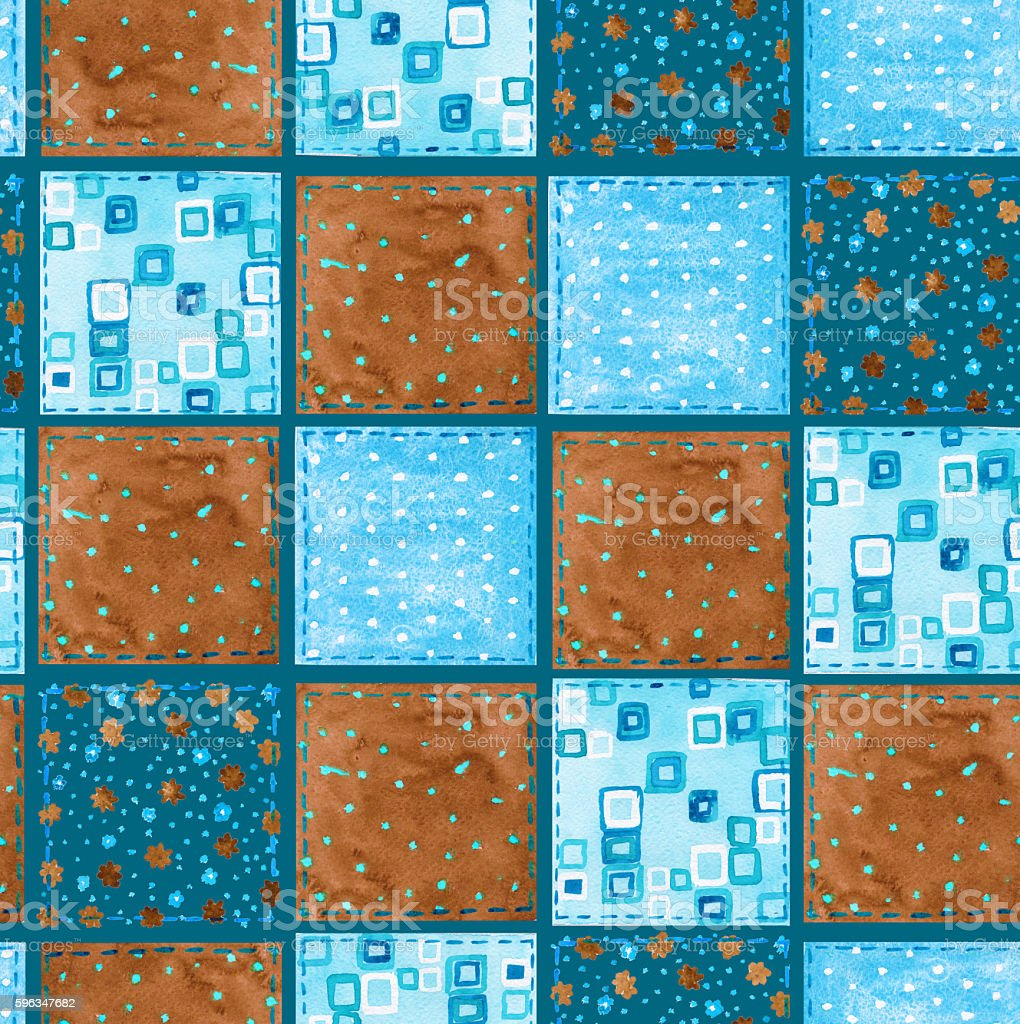Background of fabric scraps. Patchwork. Seamless pattern. Waterc royalty-free background of fabric scraps patchwork seamless pattern waterc stock vector art & more images of backgrounds