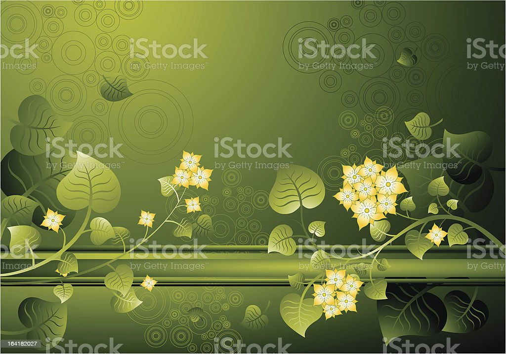 Background of flowers,vector royalty-free stock vector art