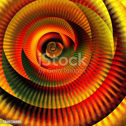 istock Background of motley ribbon twisted in a spiral. Flower. The Rose. 1348236663