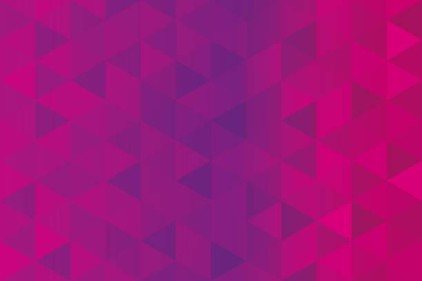 illustrazioni stock, clip art, cartoni animati e icone di tendenza di background of pink triangles - magenta