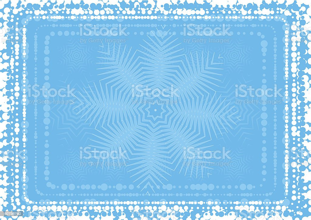 background  of snowflake - Royalty-free Backgrounds stock vector