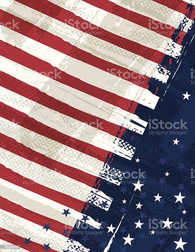 USA background. Patriotic fourth of July United States holiday vector art illustration