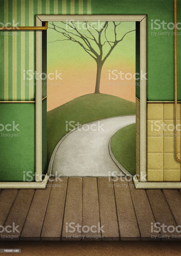 Background to the door royalty-free stock vector art