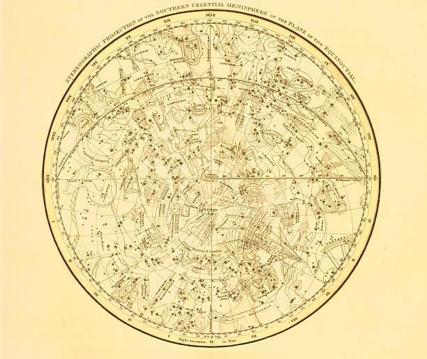 bildbanksillustrationer, clip art samt tecknat material och ikoner med a background with a map of the sky - ancient white background