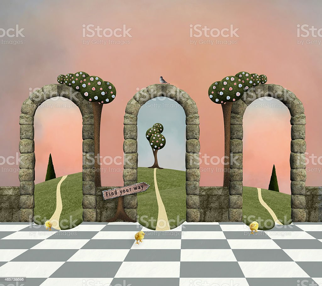 Background with arcs vector art illustration