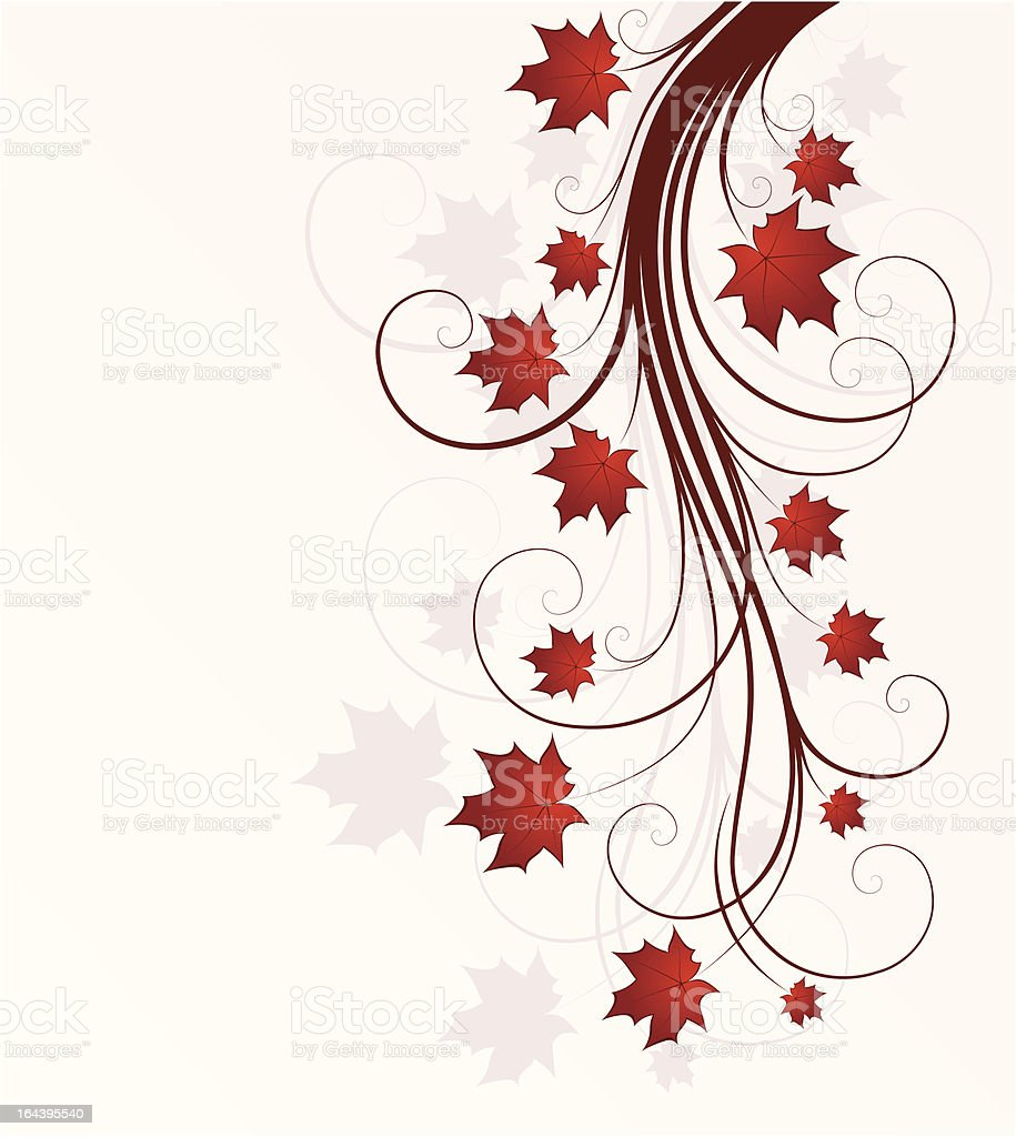 background with autumn tree royalty-free stock vector art