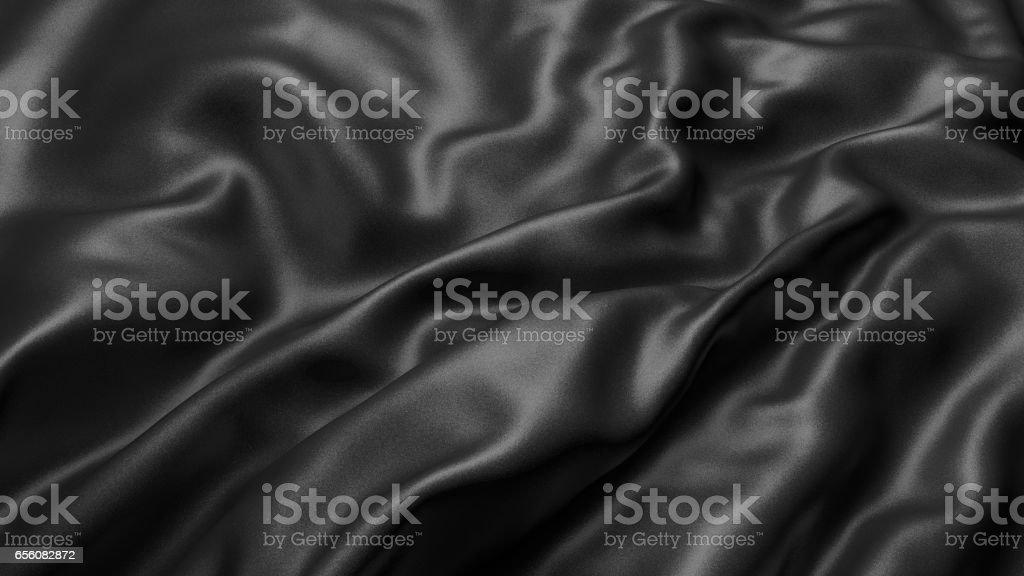 Background with black silk. Graphic illustration. 3D rendering. vector art illustration