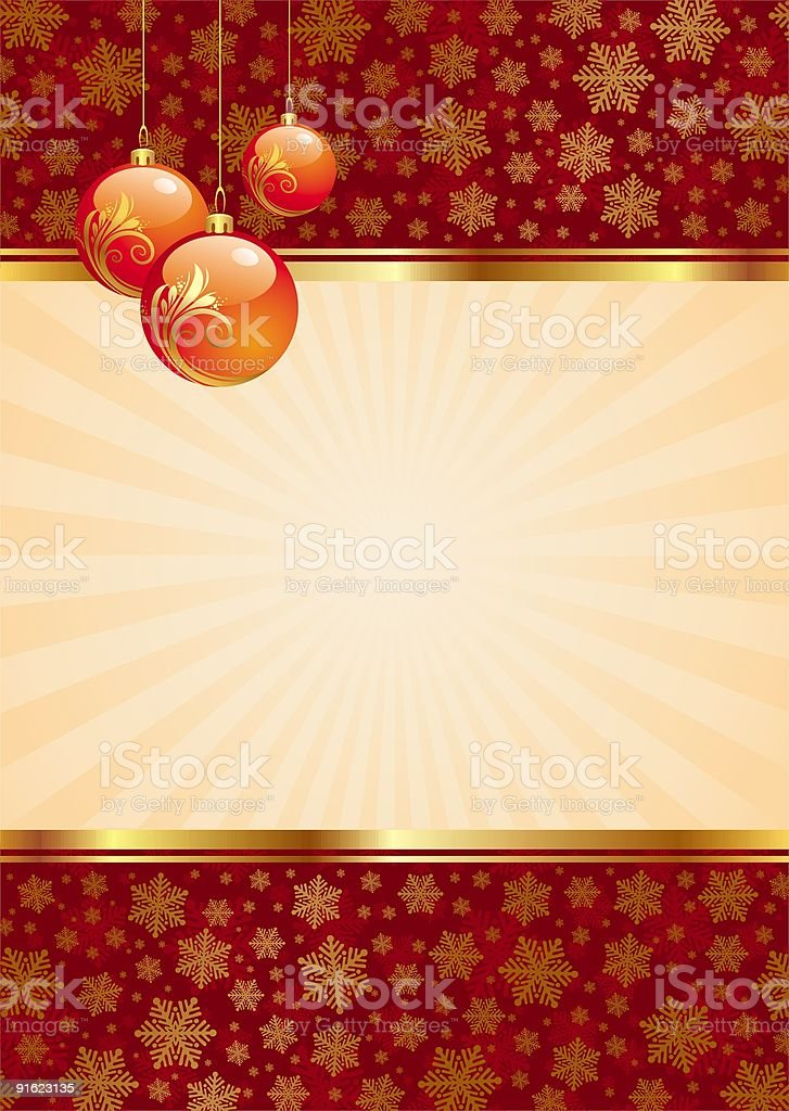 Background with christmas balls royalty-free stock vector art