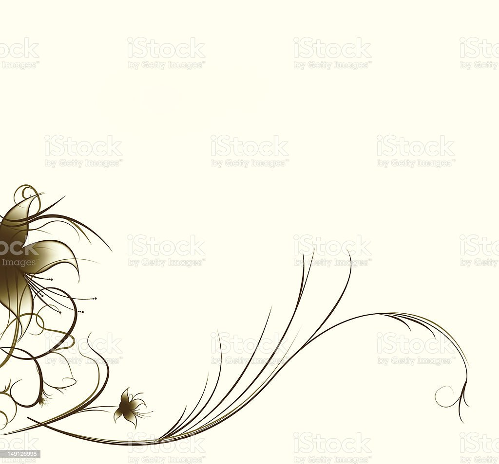 Background with flower royalty-free stock vector art