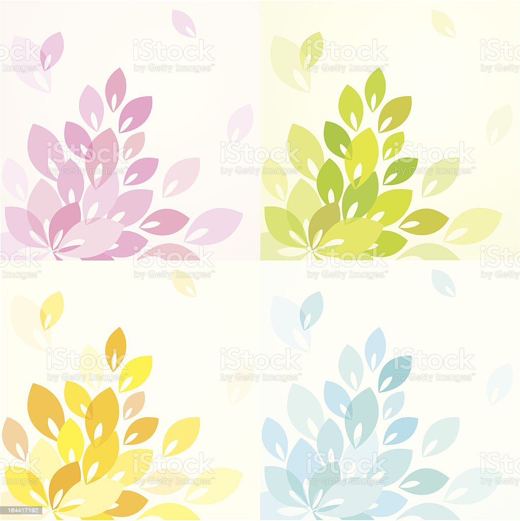 Background with foliage royalty-free stock vector art
