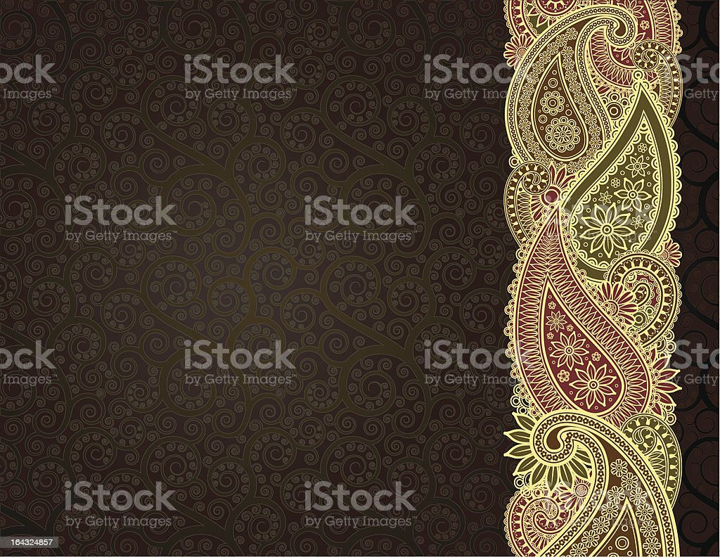 Background  with  paisley royalty-free stock vector art