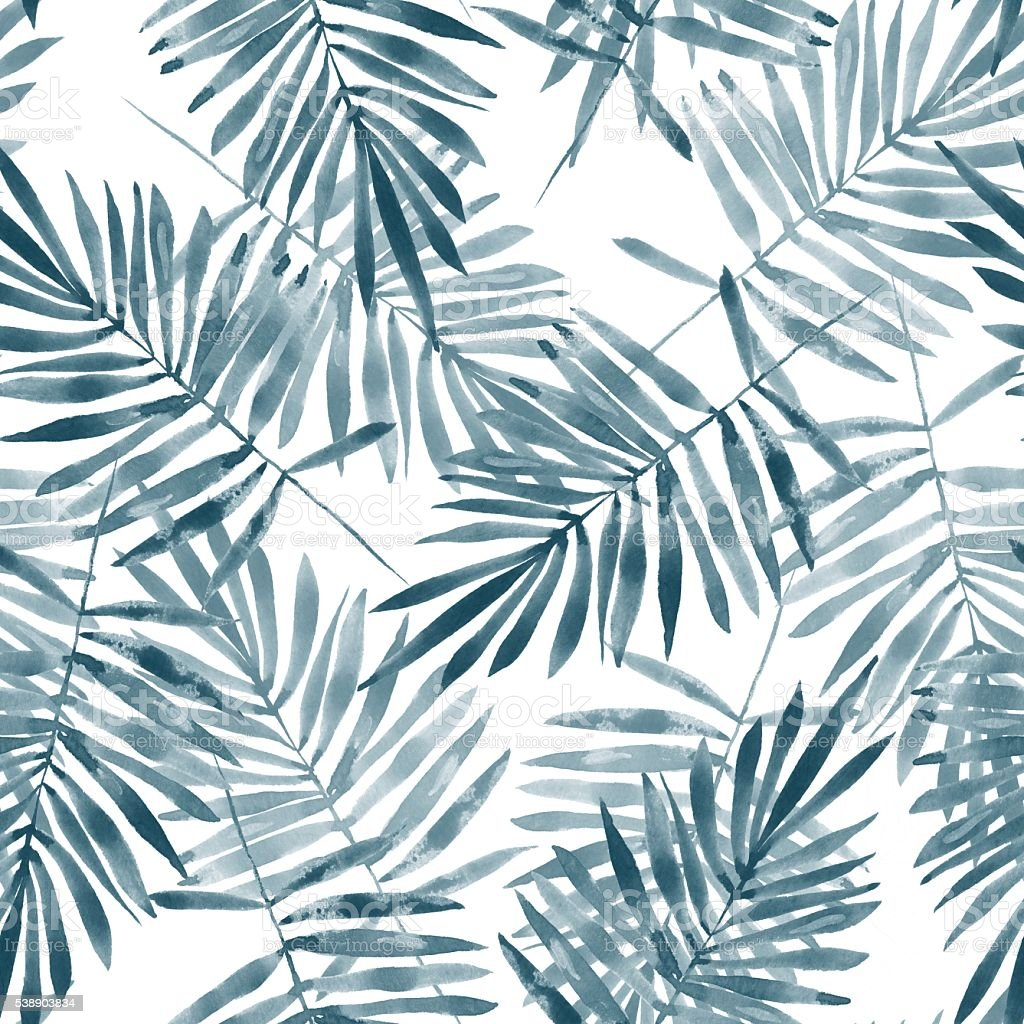 Background with palm leaves 3. vector art illustration