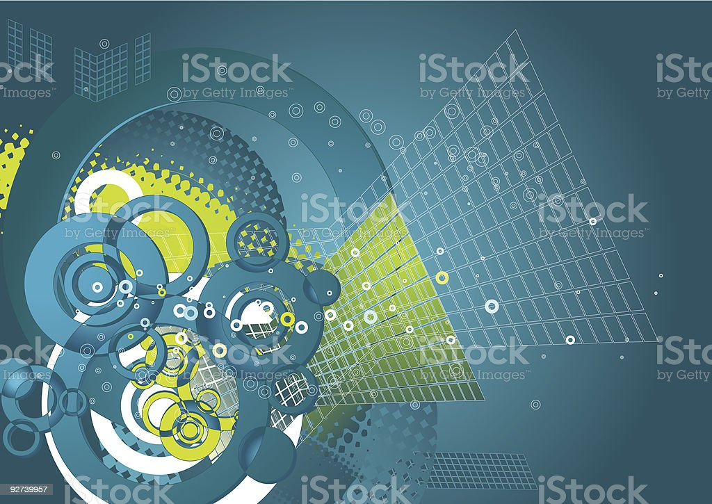 Background with shapes,vector royalty-free stock vector art