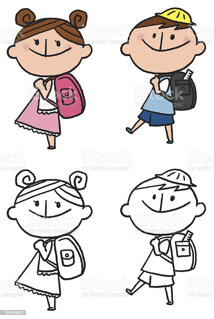 Backpack royalty-free stock vector art