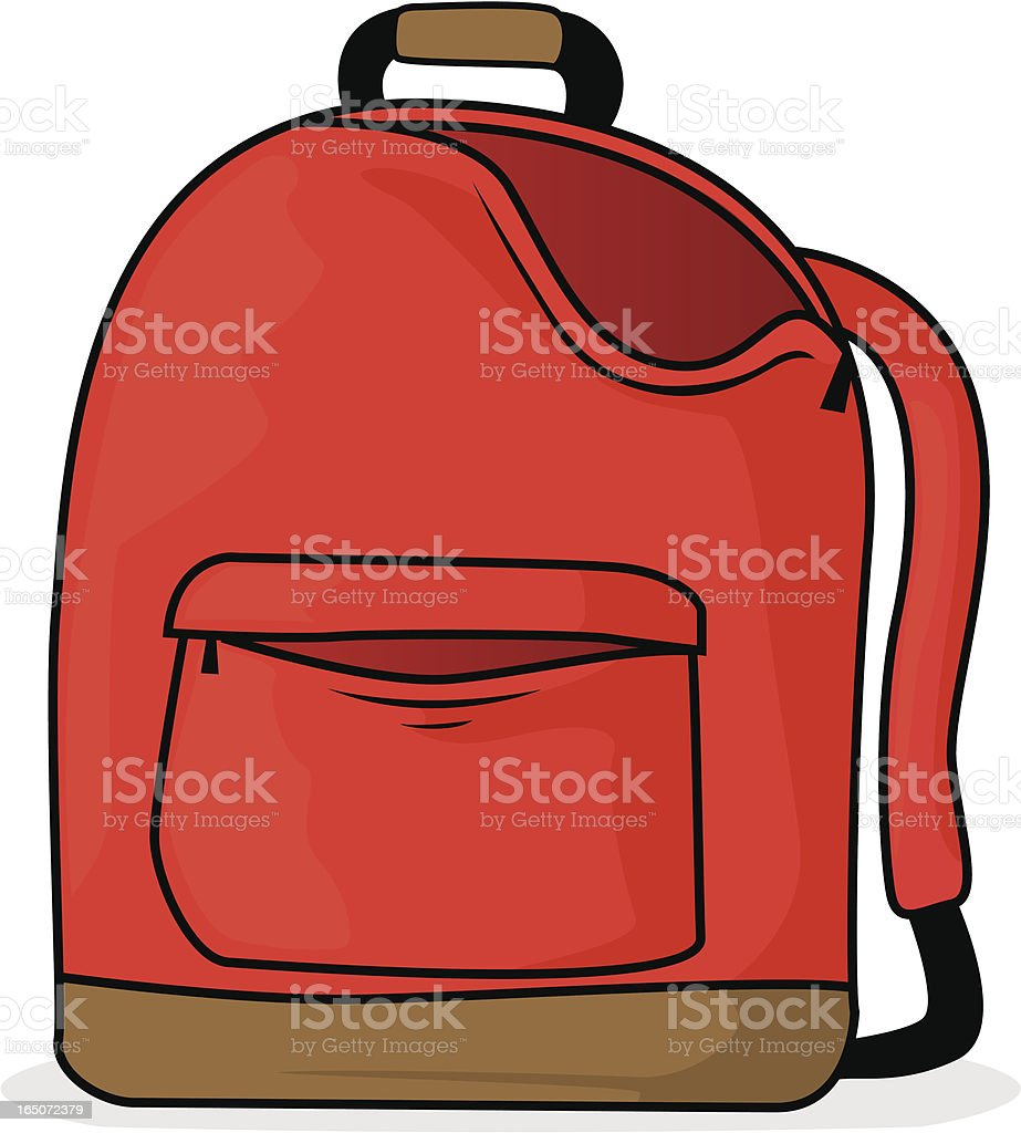 royalty free open backpack clip art vector images illustrations rh istockphoto com backpack clip art image backpack clip art free