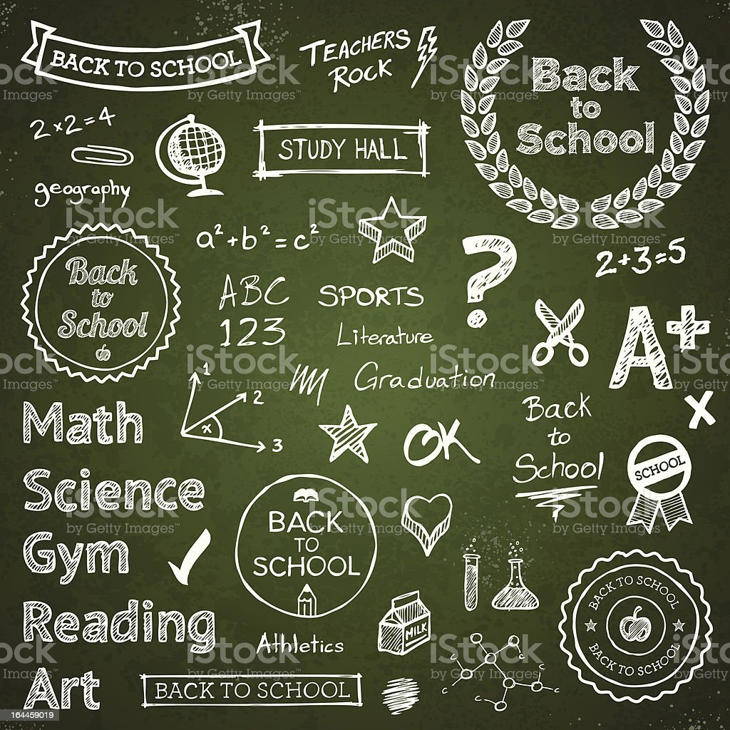 Back-to-school hand-drawn elements royalty-free backtoschool handdrawn elements stock vector art & more images of back to school