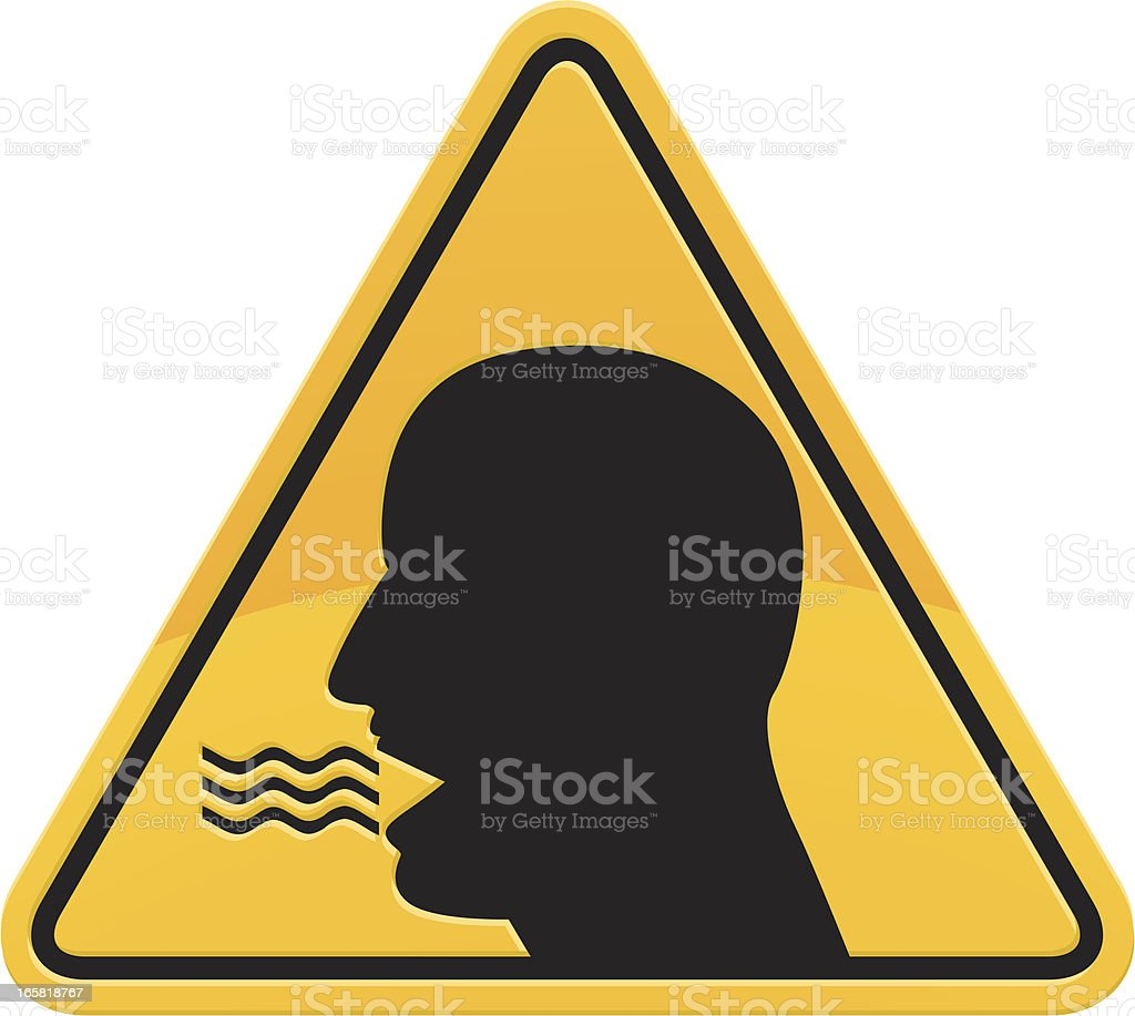 bad breath warning sign vector art illustration