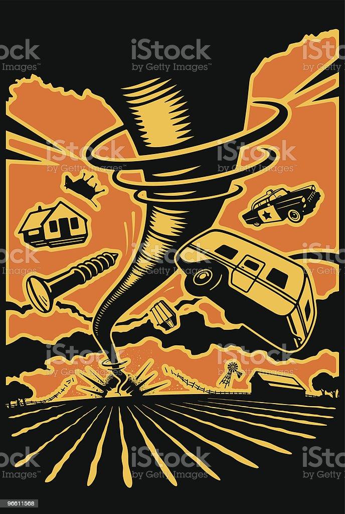 Bad Day On The Farm vector art illustration