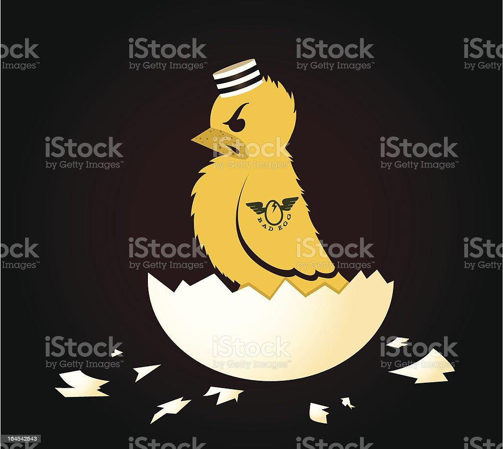 Bad Egg royalty-free stock vector art