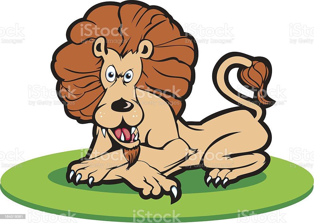 Bad Mood Lion royalty-free stock vector art