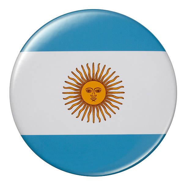 Badge -アルゼンチンの国旗 ベクターアートイラスト