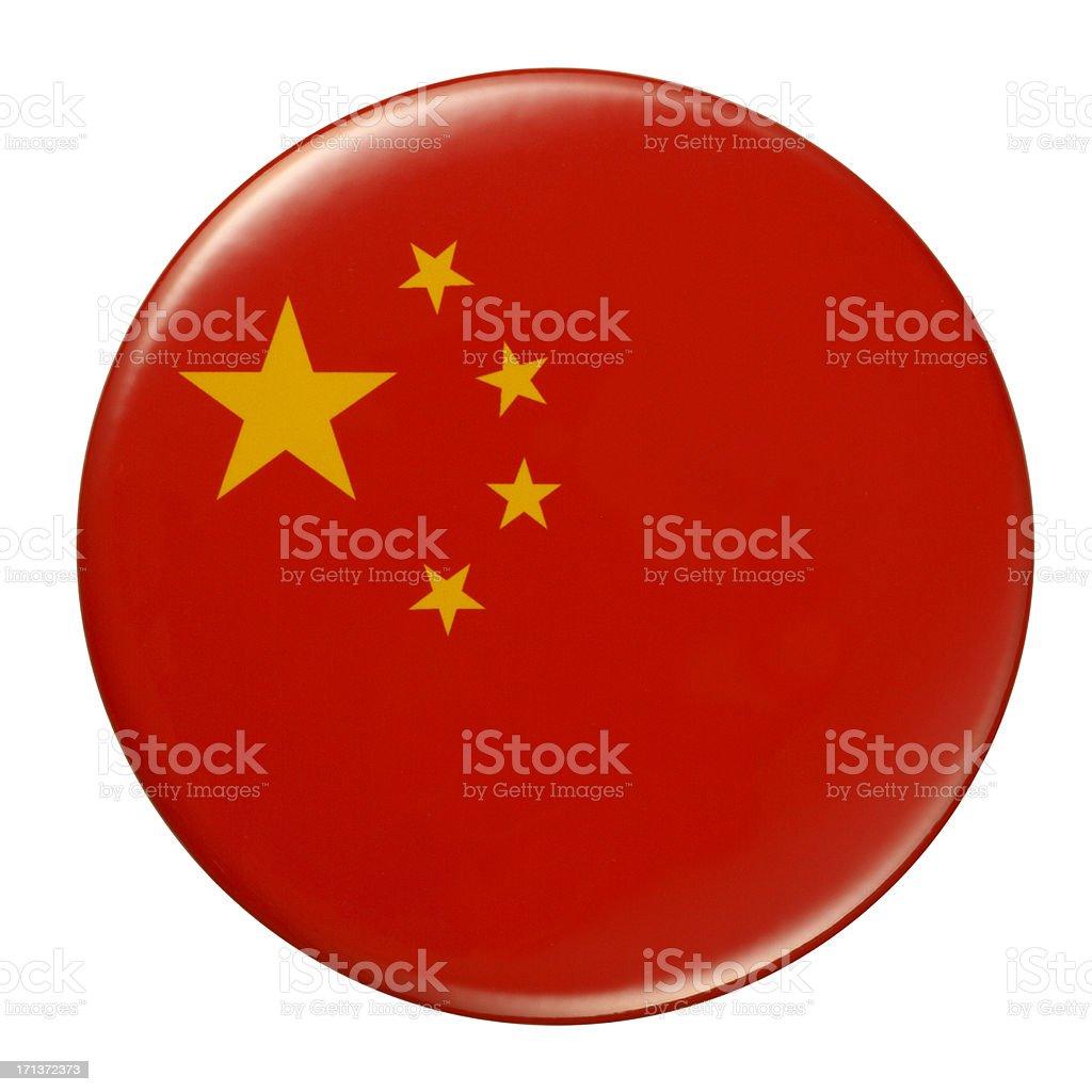 Badge - Chinese flag vector art illustration