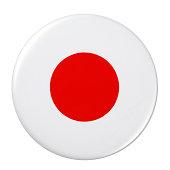 Badge - Japan flag on white