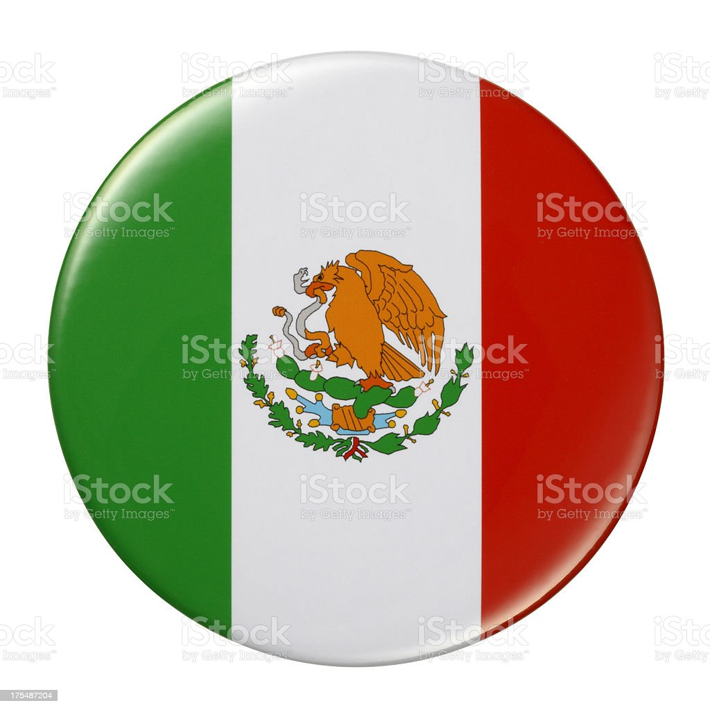 Badge - Mexico flag royalty-free stock vector art