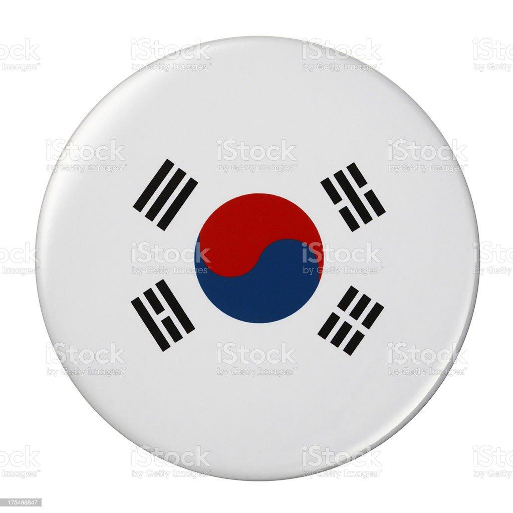 Crachá bandeira-Coreia do Sul - ilustração de arte em vetor