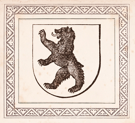 Badge with Bear from Appenzell Switzerland
