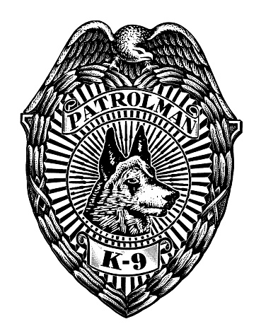 K-9 Badge With Dog