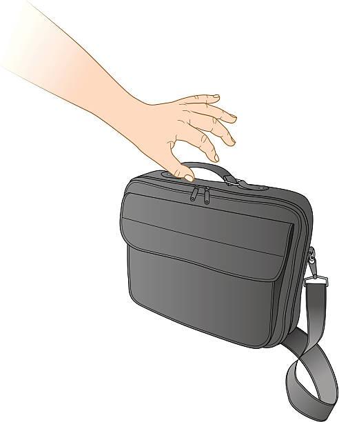 tasche diebstahl - laptoptaschen stock-grafiken, -clipart, -cartoons und -symbole