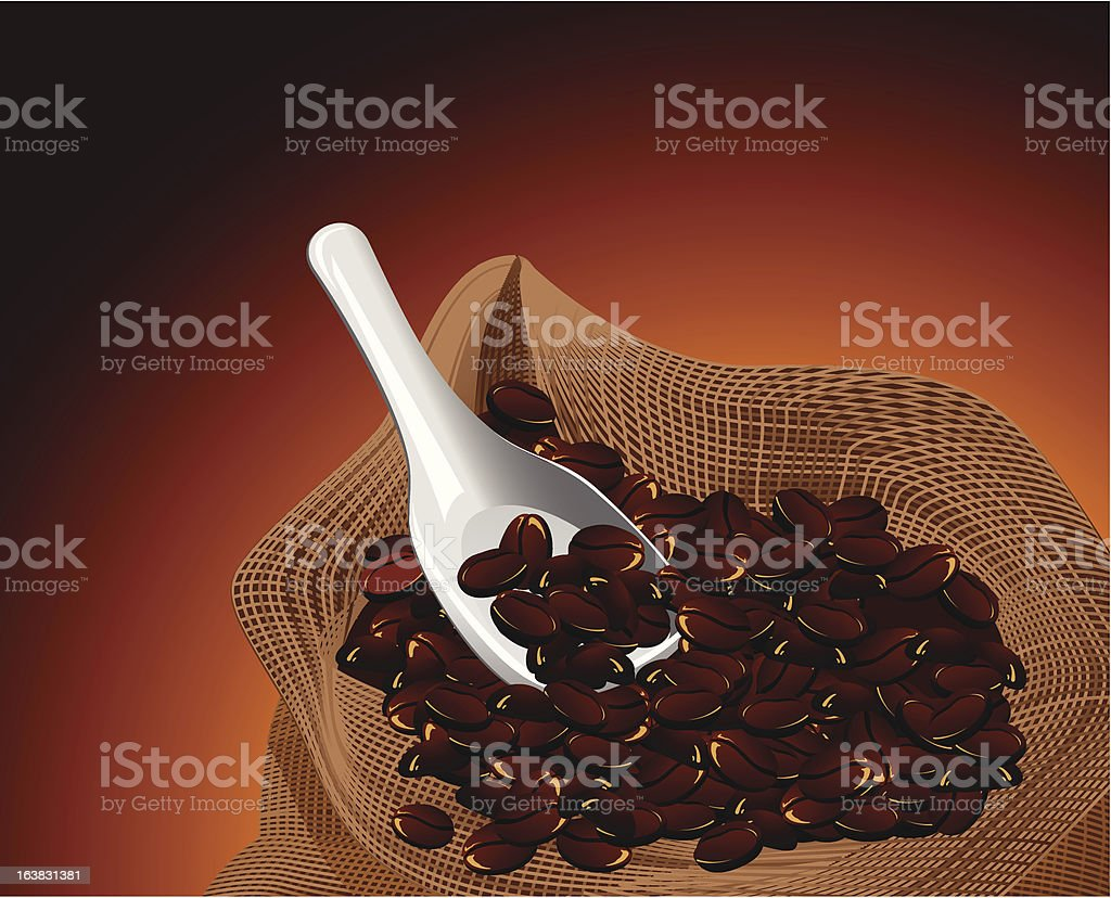 Bag with coffee royalty-free bag with coffee stock vector art & more images of bag