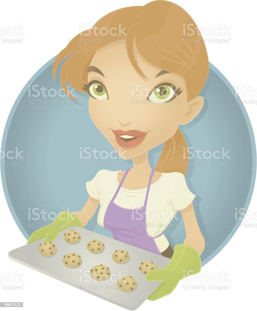 Baker Girl - Royaltyfri Akademikeryrke vektorgrafik