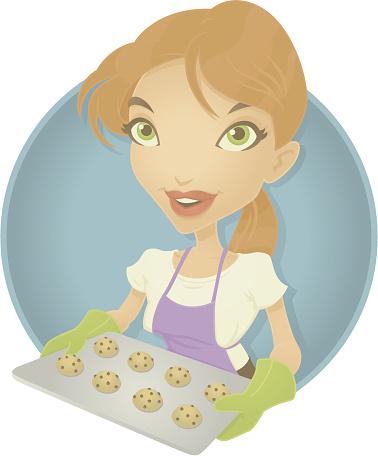 Baker Girl-vektorgrafik och fler bilder på Akademikeryrke