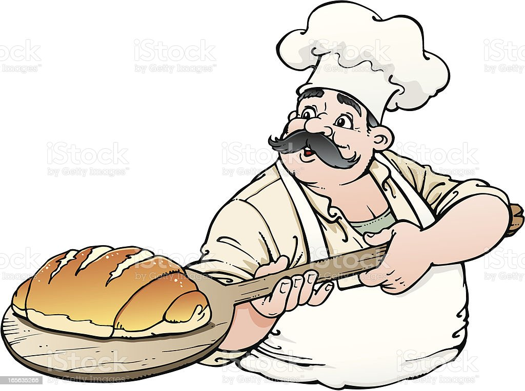 Baker vector art illustration