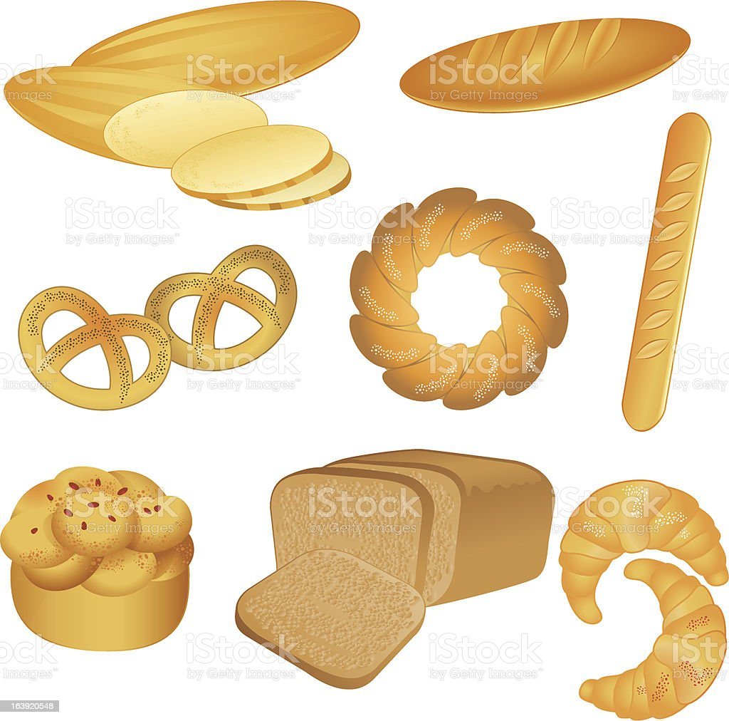 boulangerie collection vector art illustration