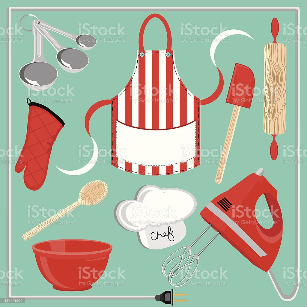Baking icons and elements royalty-free stock vector art