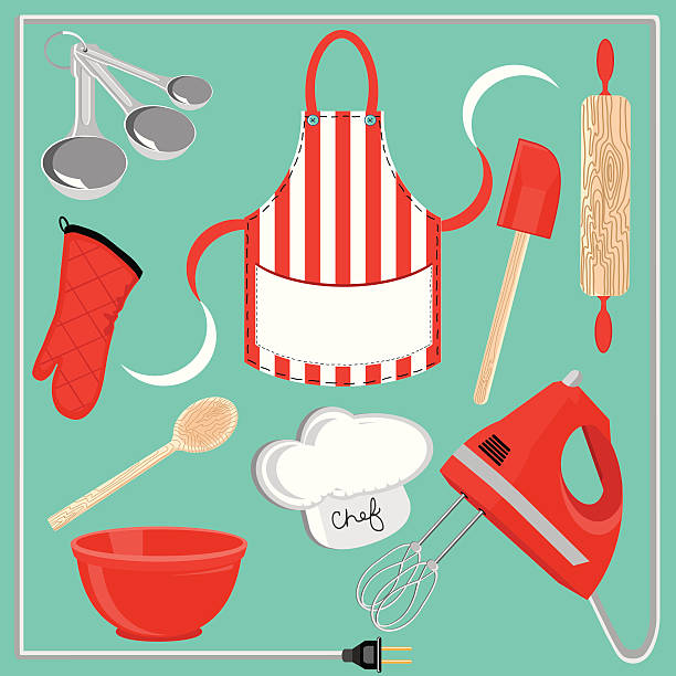 baking icons and elements - mixing bowl stock illustrations, clip art, cartoons, & icons