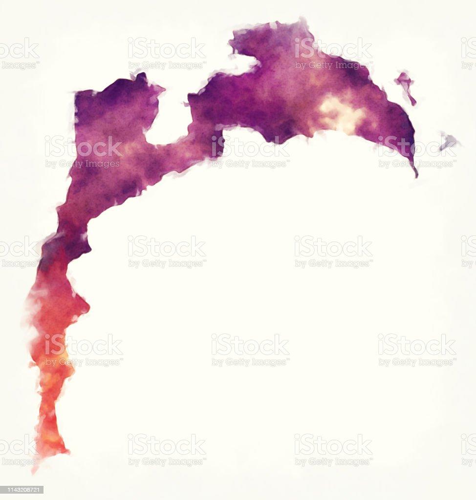 Baku Aserbaidschan Karte.Baku Aquarellregion Karte Von Aserbaidschan Stock Vektor Art