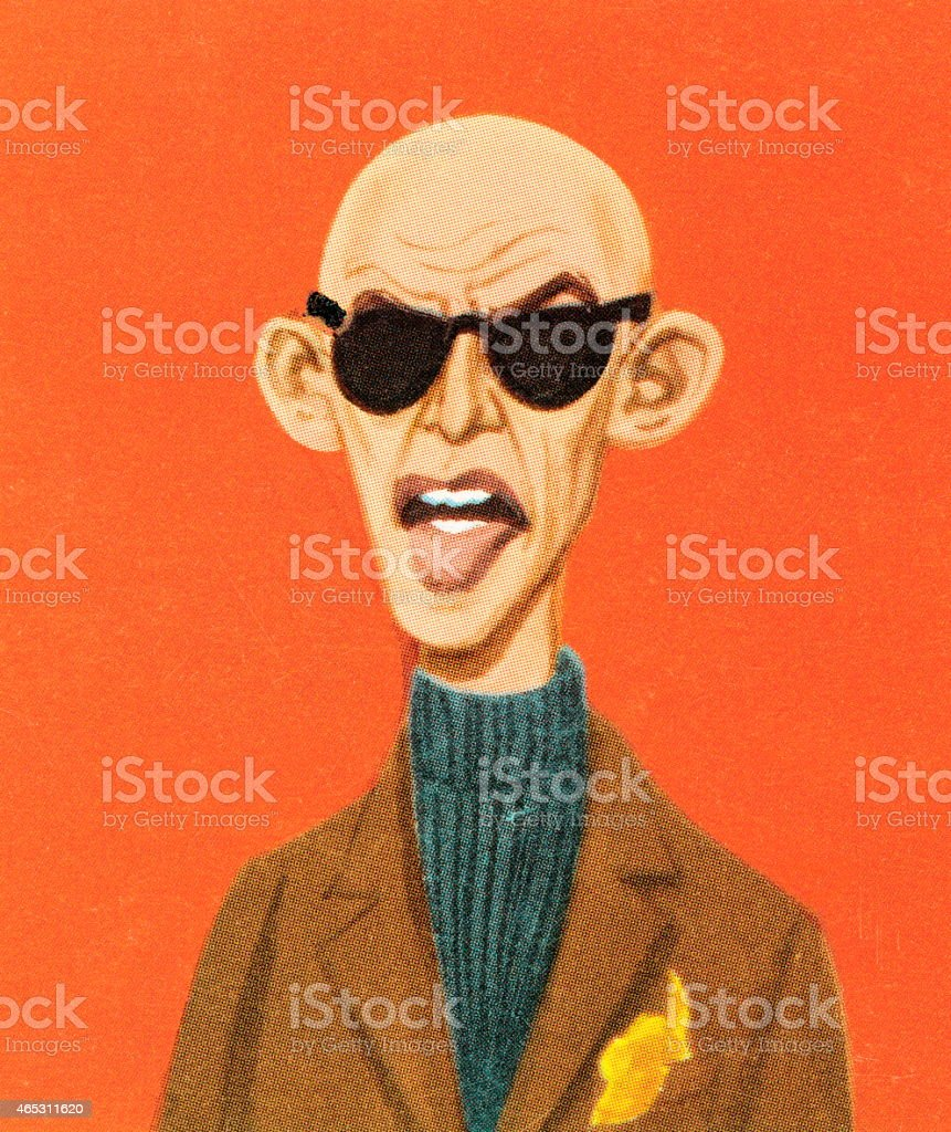 Calvo Sole E Stock Vettoriali In Tweed Occhiali Immagini Uomo Da 5ARjq34L