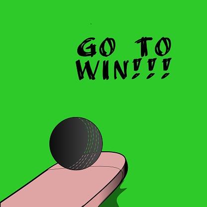 ball and cricket bat clip art