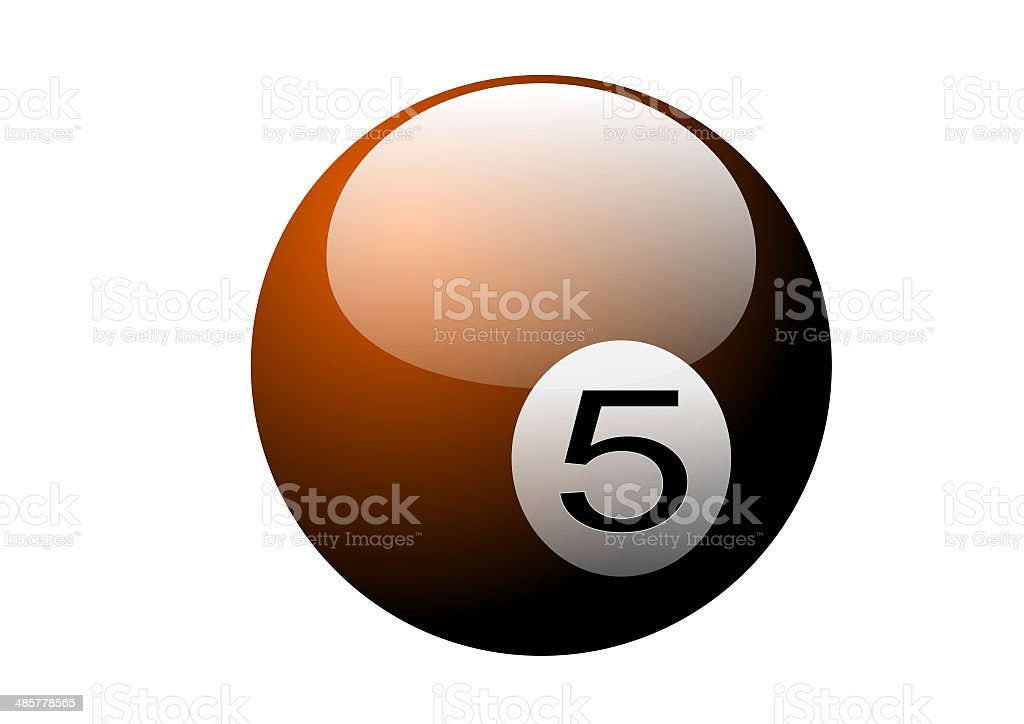 ball number vector art illustration
